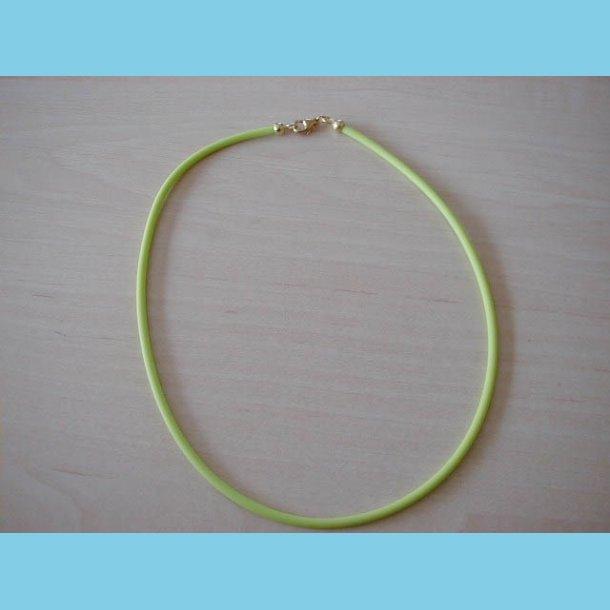 Lysegrøn Gummi Halskæde