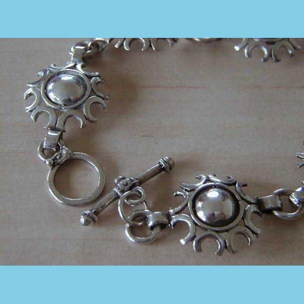 Sølvarmbånd med 6 Cirkler